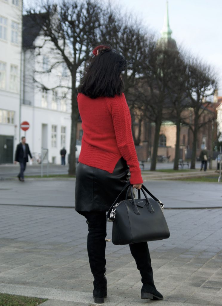 black and red , outfit of the day