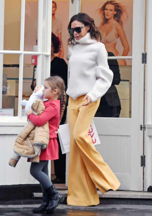 Victoria Beckham in flared pants