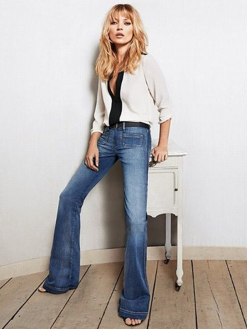 Kate Moss in Flared Pants