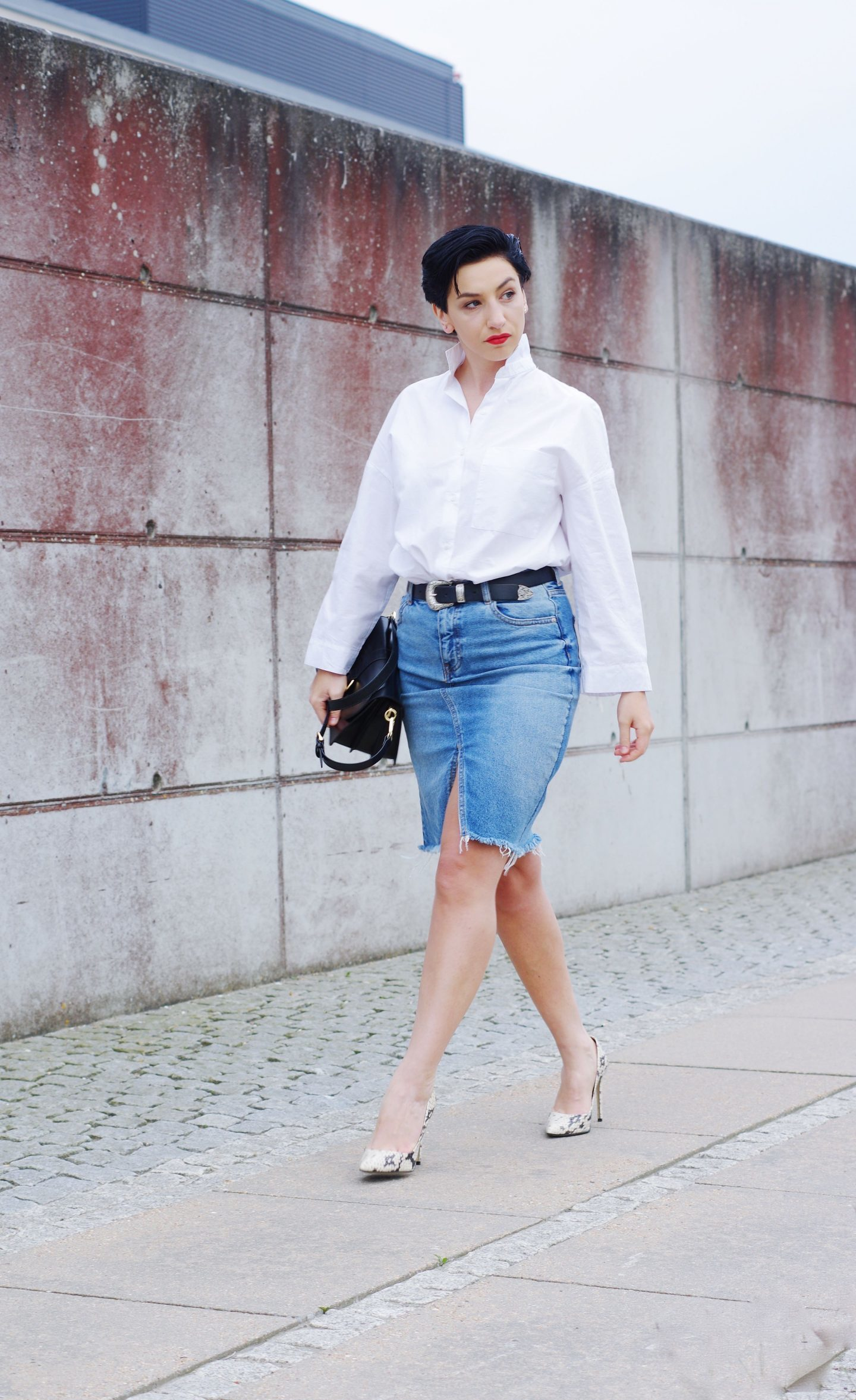 d95a99a0d679f1 What To Wear With Jeans Skirt | Saddha