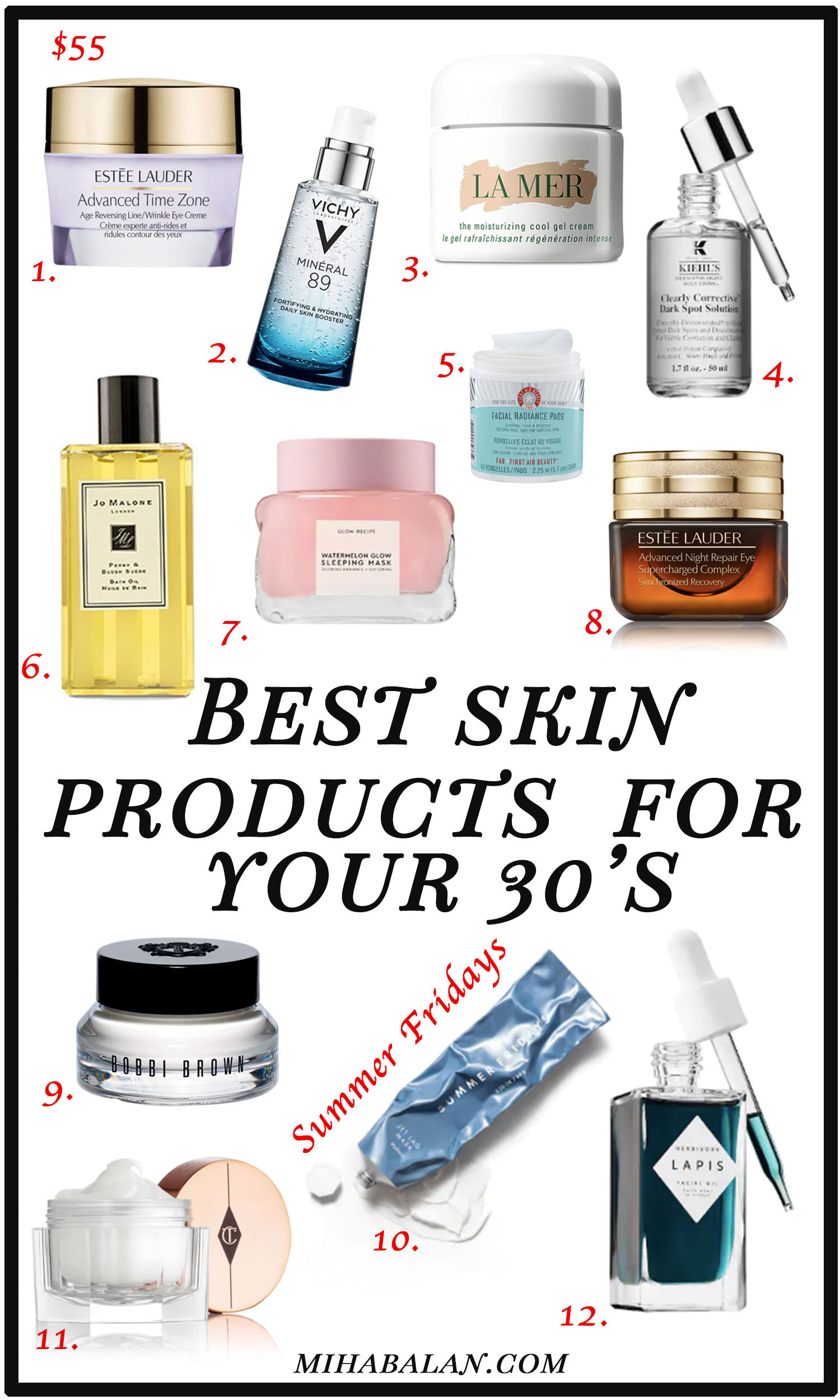 best skin products for your 30's, face cream, serums, face masks, 4 ways to take care of your skin in your 30's, wellness, self love, self care, mihabalan.com