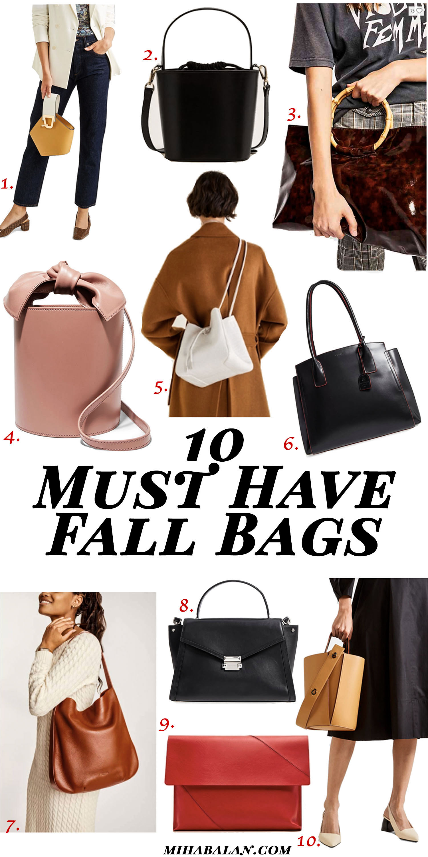 10 must have fall bags, bags to match every fall outfit, fall accessory, fall fashion