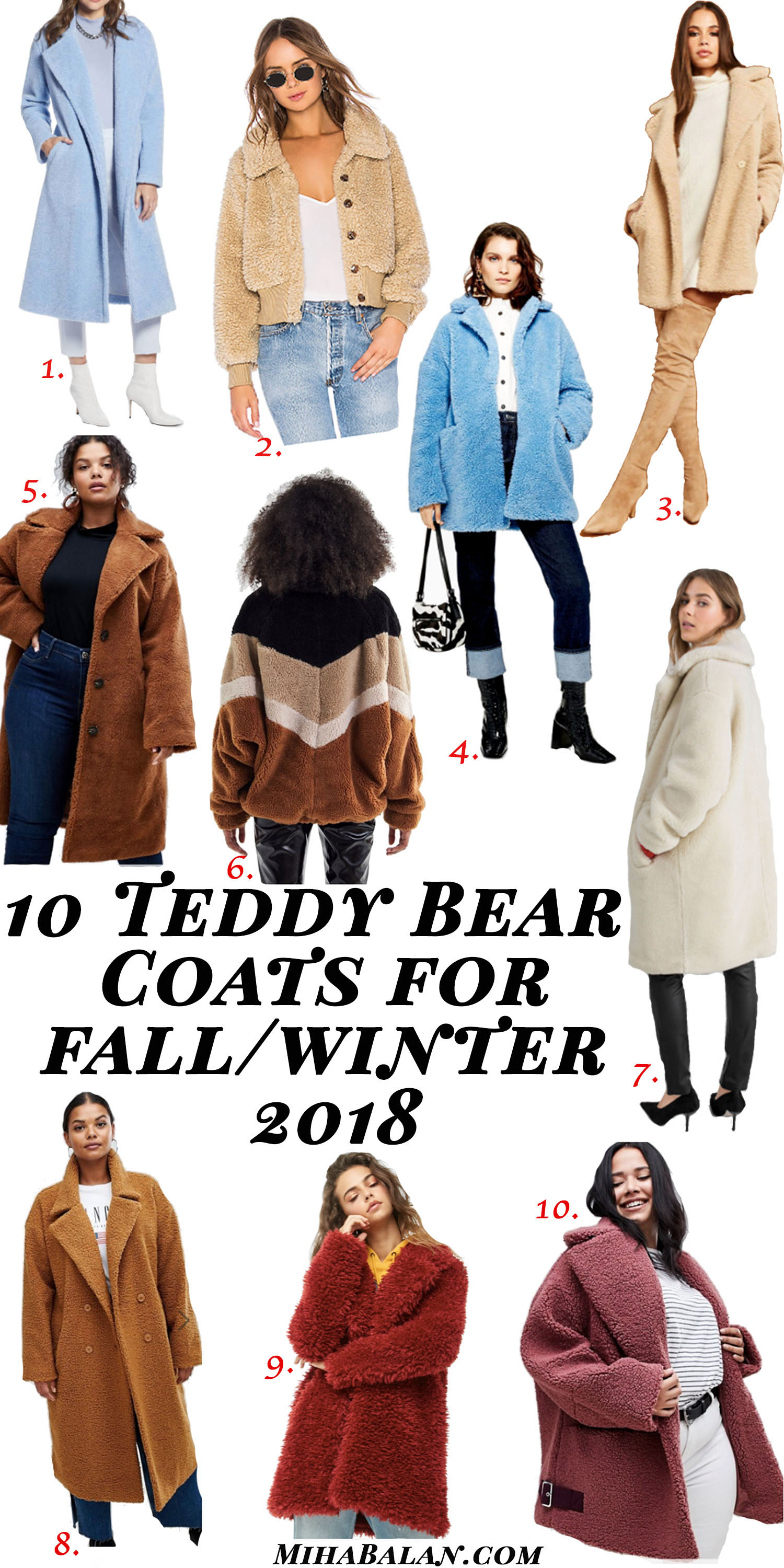 10 teddy bear coats for you this fall winter 2018, coats and jacket, fall fashion, fall outfit idea