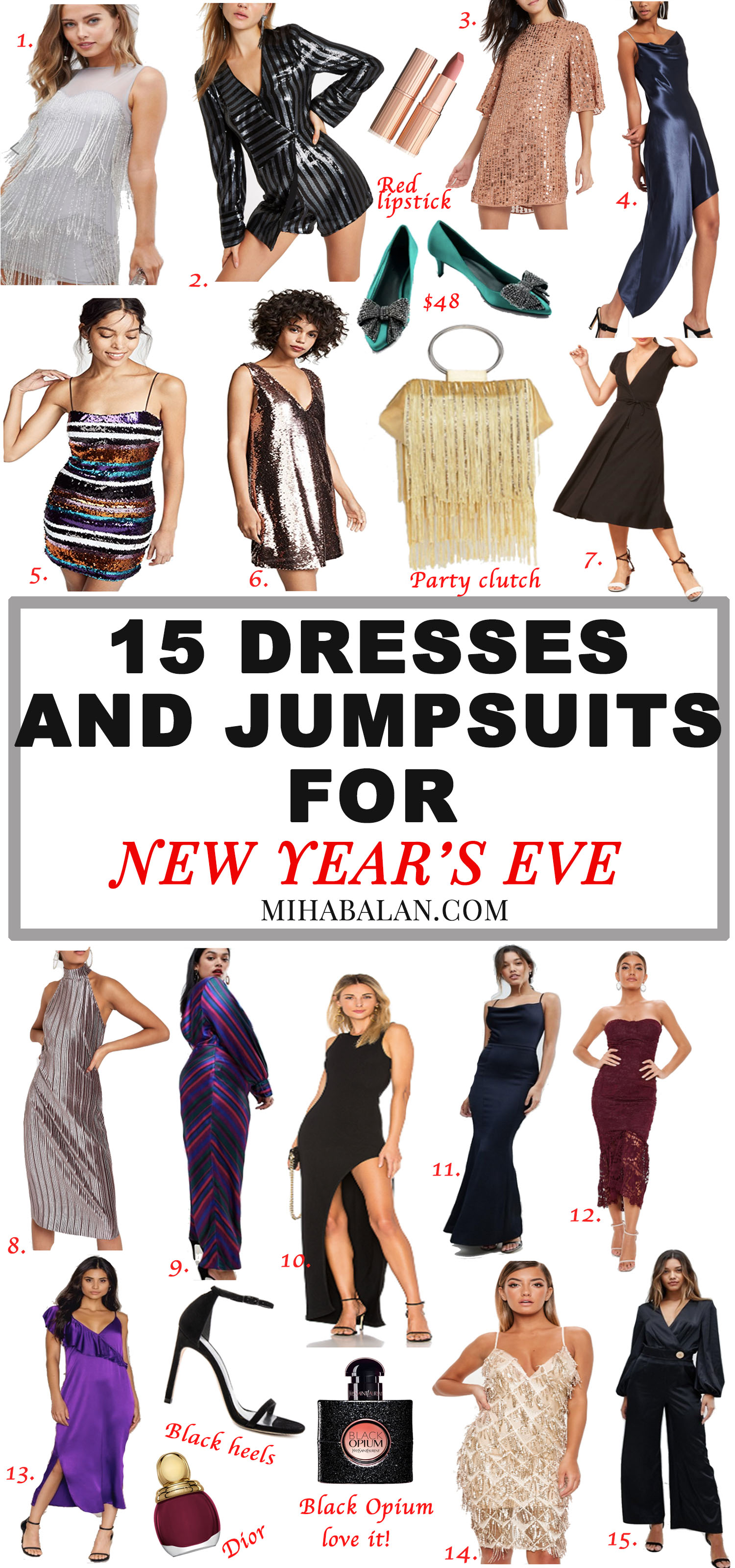 15 perfect dresses and jumpsuits for New Year's Eve, Festive Outfit Ideas, Glamour up for New Years Eve1