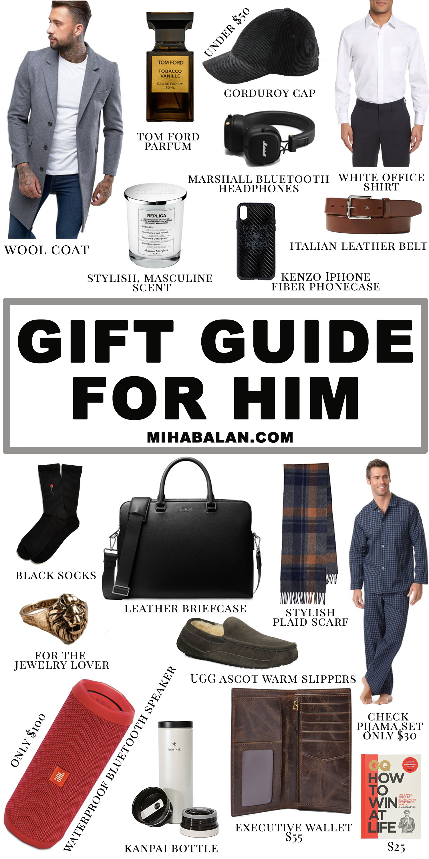 GIFT GUIDE FOR HIM 2018, what to buy for a man that has everything, 20 Christmas gift idea