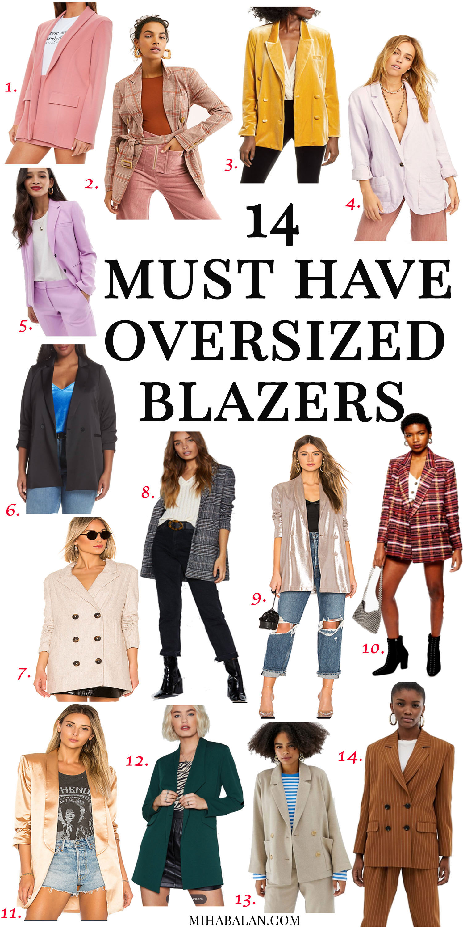 14 oversized blazers for spring and summer, work wear outfit ideas, blazers for casual outfits, spring outfits