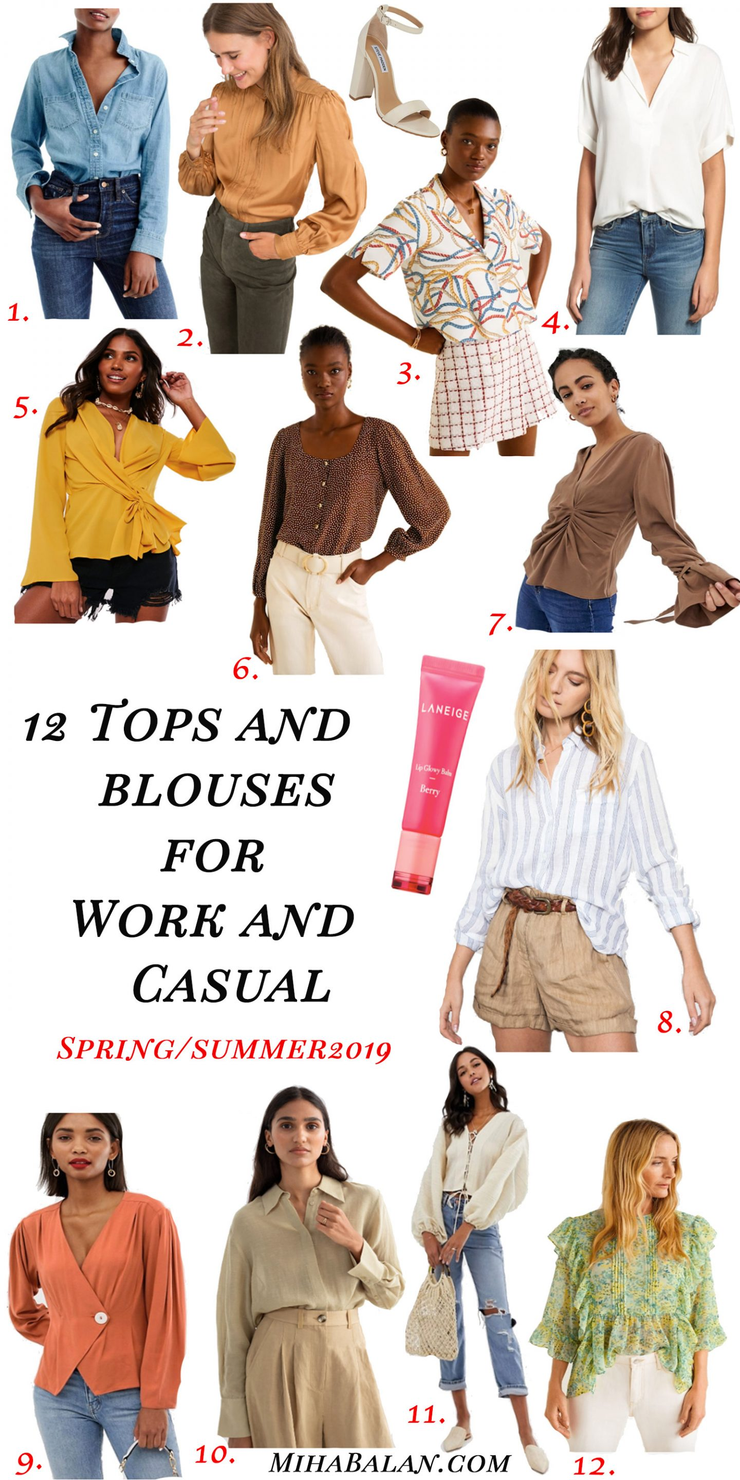 Tops-and-Blouses-for-work-and-casual-spring-and-summer-2019-outfit-ideas-pretty-tops-women-blouses-women-fashion-2019