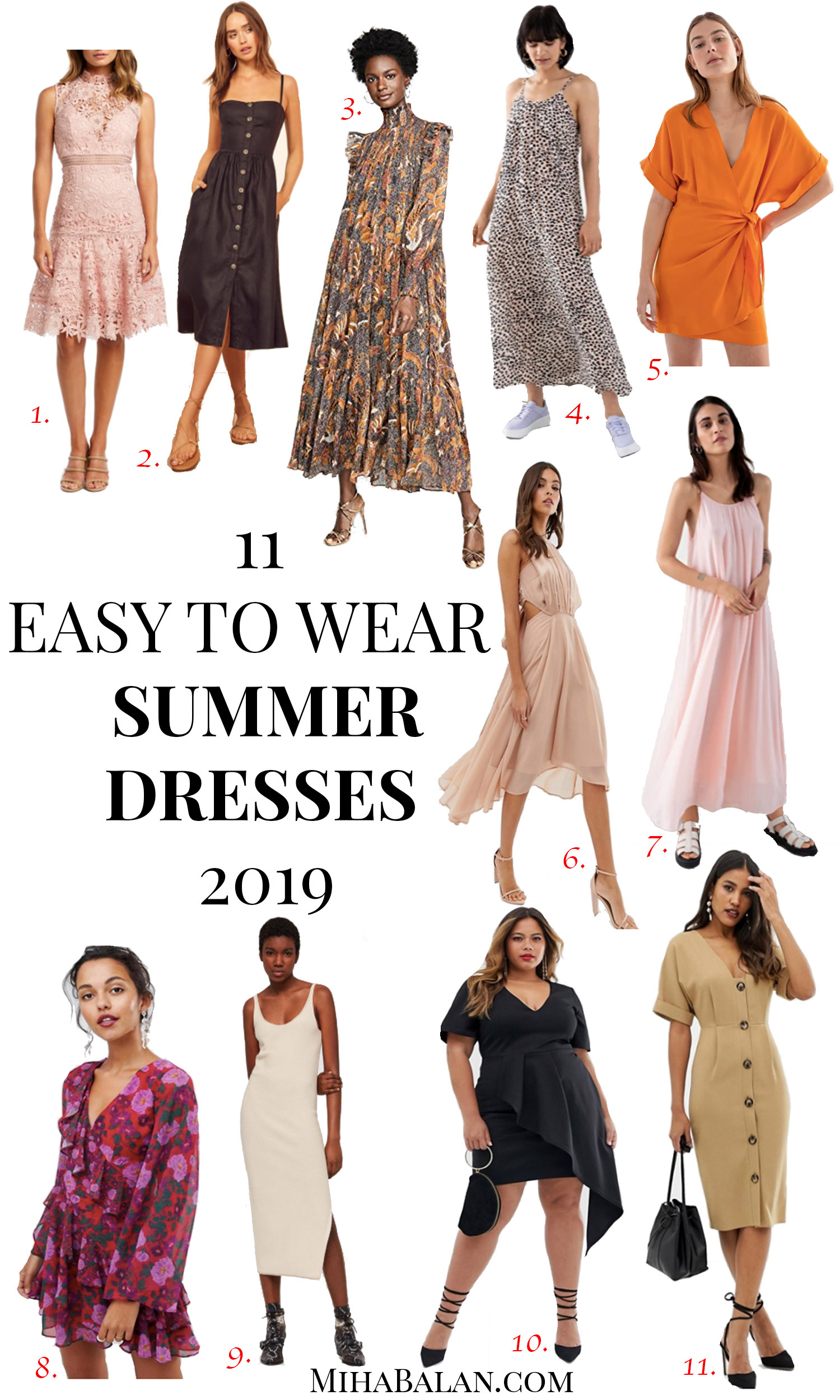 11 easy to wear summer dresses 2019, summer outfits, maxi dresses, dresses for occasions