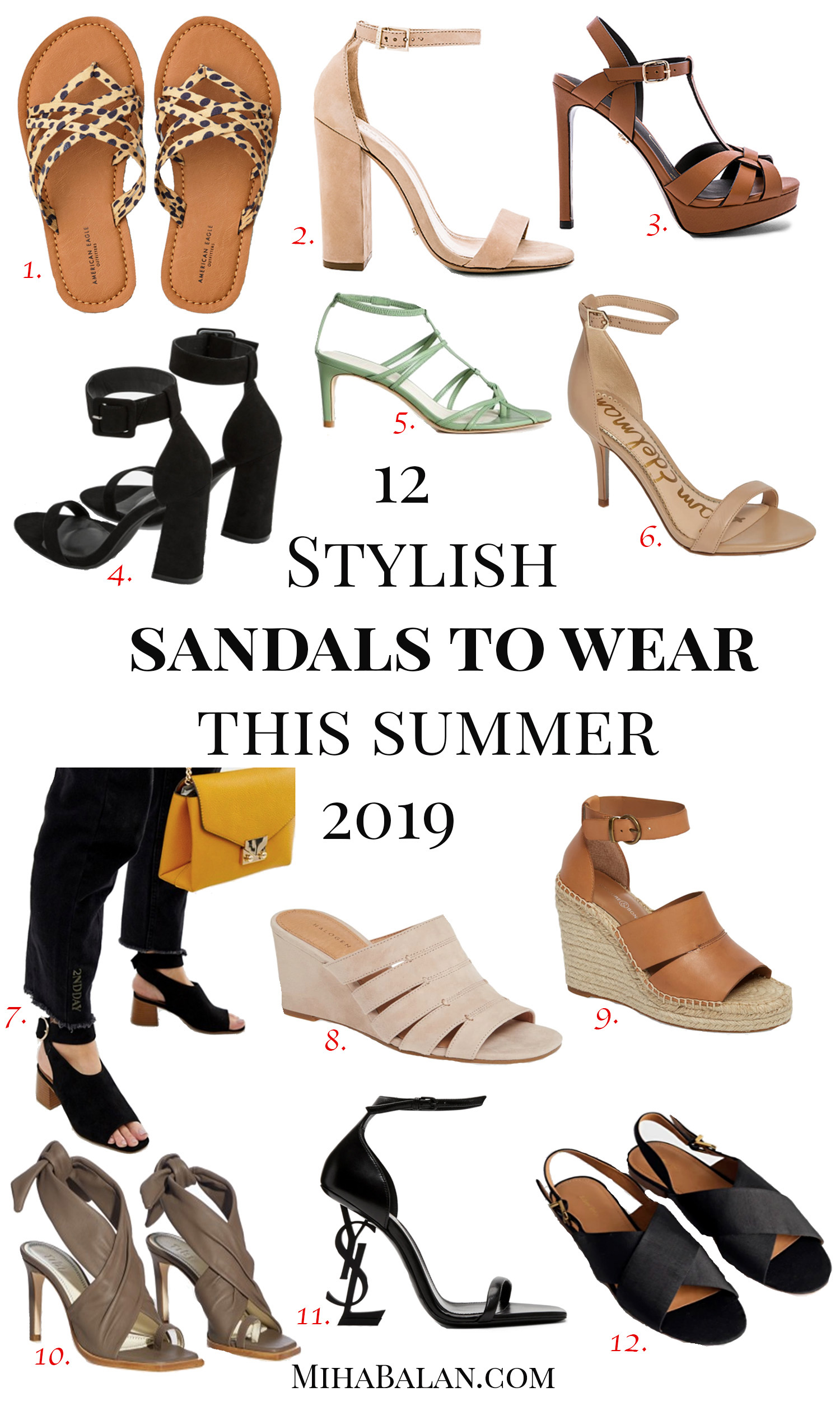 12 stylish sandals to wear this summer 2019, flat sandals, heel sandalds, summer shoes, work summer shoes, casual summer shoes