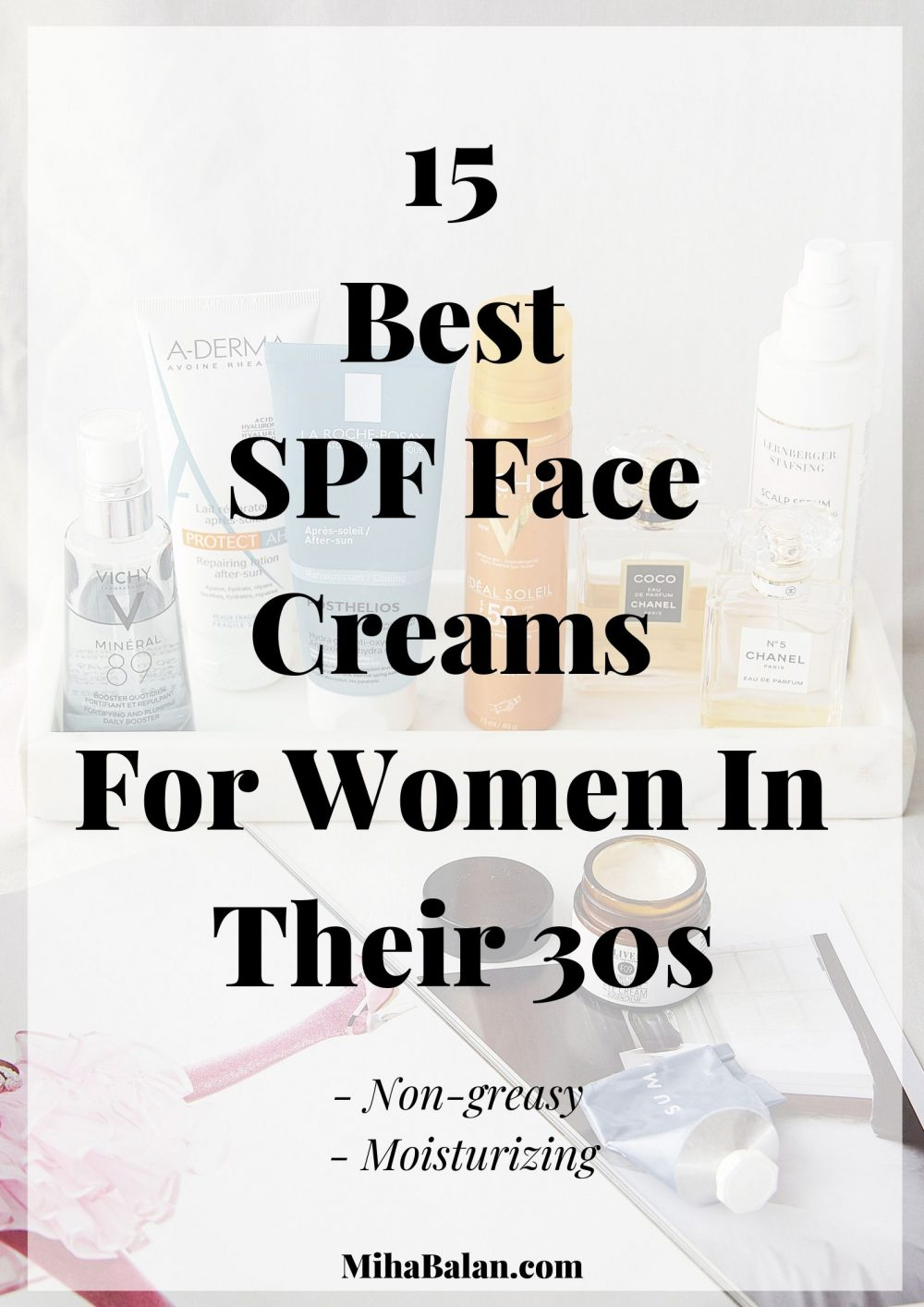 15 Best SPF Face Creams For Women In Their 30s., non greasy, moisturizing, hydrating face creams, skincare products, wellness, face care, SPF protection 1