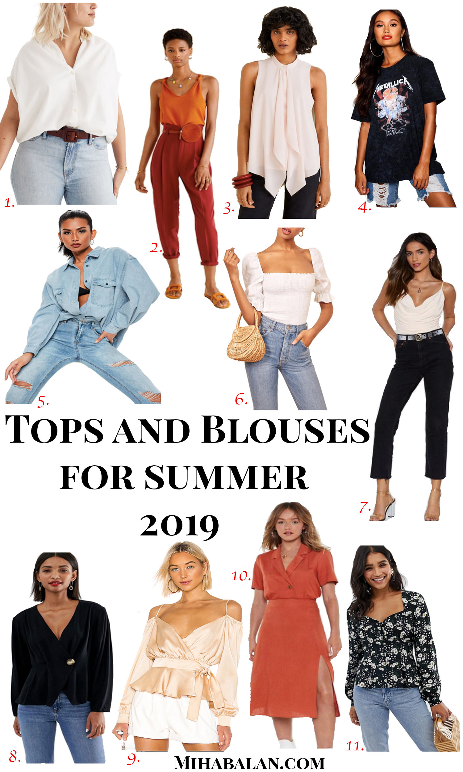 tops .and blouses for summer 2019, summer outfits, summer fashion, summer style, summer outfits ideas