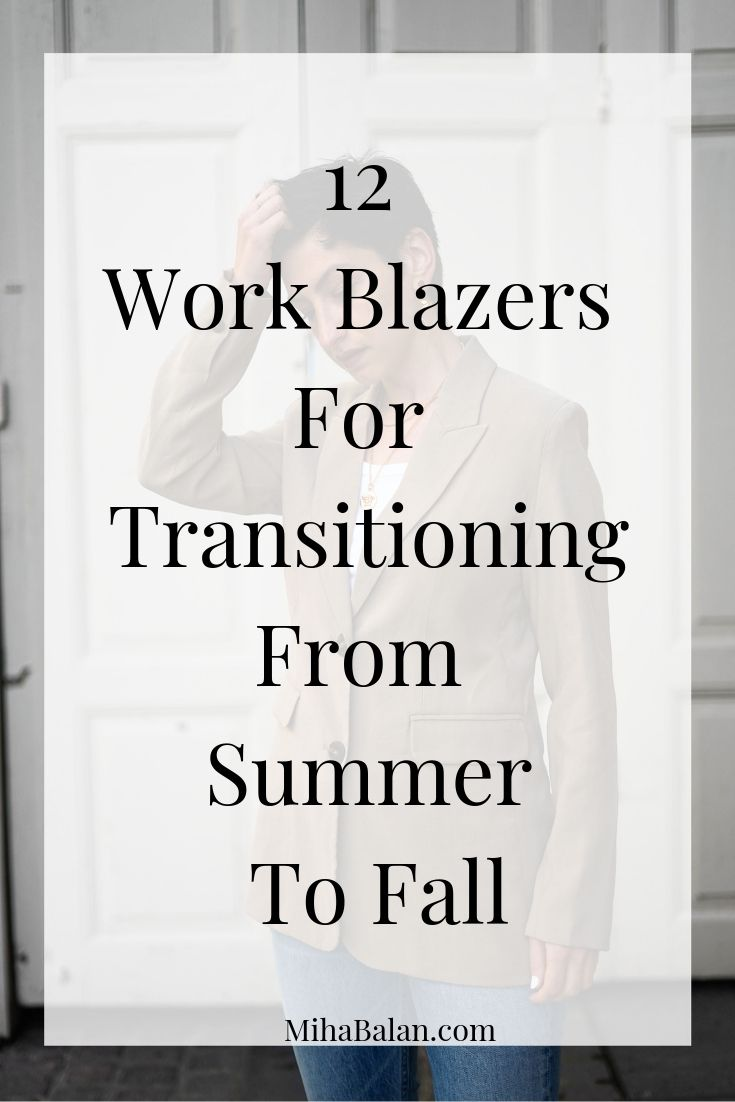 12 Work Blazers For Transitioning From Summer To Fall, Work Wear outfit Ideas, Scandinavian style-2