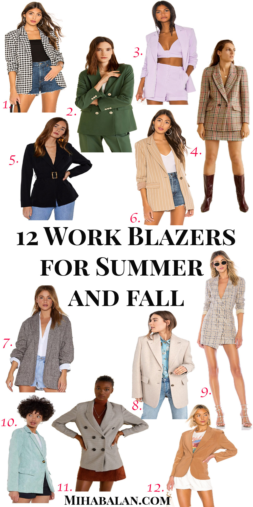 12 Work Blazers to help you transition from summer tofall, work wear outfits ideas